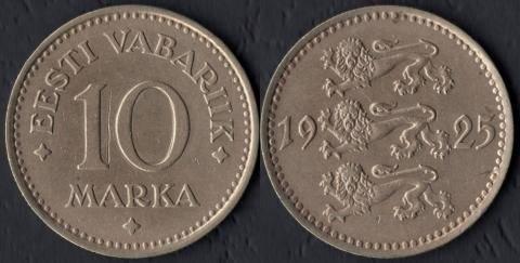Эстония 10 марок 1925