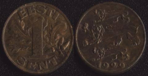 Эстония 1 сент 1929