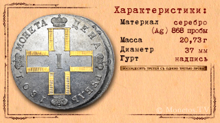 Характеристики монеты 1 рубль 1801 года