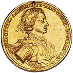 Наградная офицерская медаль за сражение при Калише, 18 октября 1706 г.